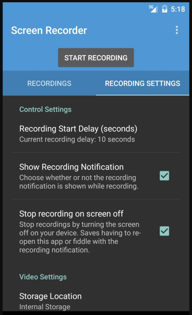 Phần mềm Lollipop screen recorder